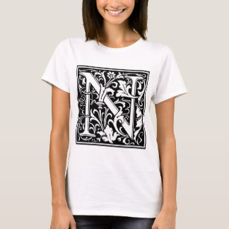 "Decorative Letter Initial ""N"" T-Shirt"