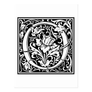 "DecorativeLetter Initial ""O"" Postcard"