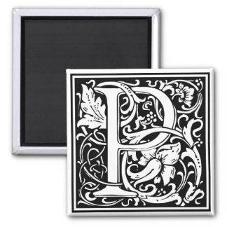 "DecorativeLetter Initial ""P"" 2 Inch Square Magnet"