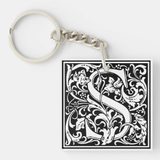 "Decorative Letter Initial ""S"" Keychain"