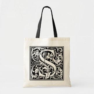 "DecorativeLetter Initial ""S"" Tote Bag"