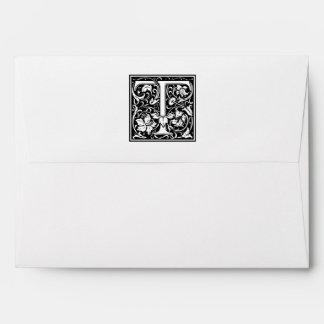 "DecorativeLetter Initial ""T"" Envelope"