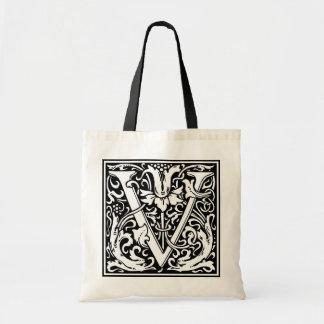 "DecorativeLetter Initial ""V"" Budget Tote Bag"