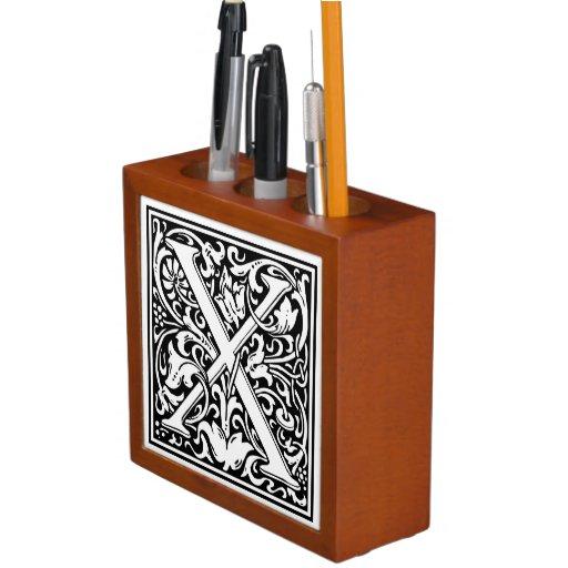 Decorative letter initial x desk organizer zazzle - Decorative desk organizers ...