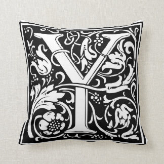 """DecorativeLetter Initial """"Y"""" Throw Pillow"""