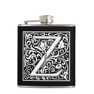 "DecorativeLetter Initial ""Z"" Hip Flasks"