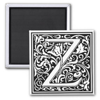 "Decorative Letter Initial ""Z"" Magnet"