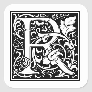 Decorative Letter R Stickers