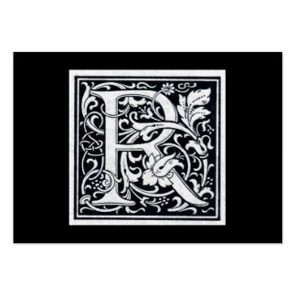 "Decorative Letter ""R"" Woodcut Woodblock Initial Large Business Cards (Pack Of 100)"