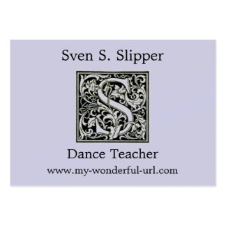 "Decorative Letter ""S"" Woodcut Woodblock Initial Large Business Cards (Pack Of 100)"