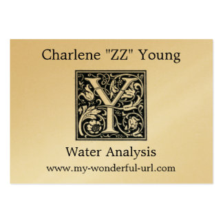 "Decorative Letter ""Y"" Woodcut Woodblock Initial Large Business Cards (Pack Of 100)"