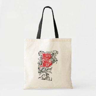 Decorative lettering tote bag