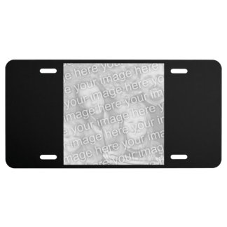 Decorative License Plate Vertical Fit Template License Plate