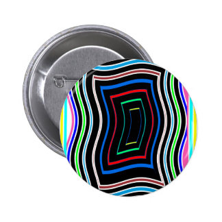 Decorative Line Graphics Colorful Art on Gifts FUN Pinback Button