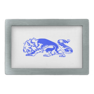 Decorative Lion Rectangular Belt Buckle