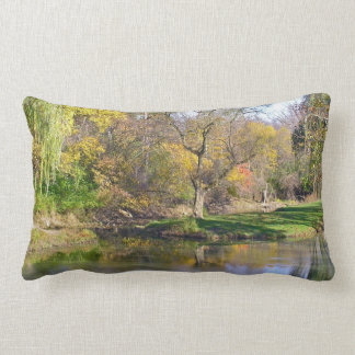 "Decorative Lumbar Pillow, ""Pond in the Woods"" Lumbar Pillow"