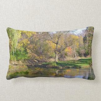 """Decorative Lumbar Pillow, """"Pond in the Woods"""" Pillow"""