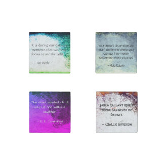 Decorative Magnet Set, with Quotes