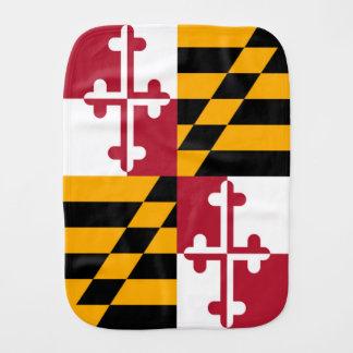 Decorative Maryland State Flag Baby Burp Cloth