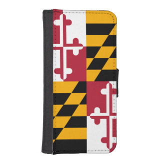 Decorative Maryland State Flag iPhone SE/5/5s Wallet Case