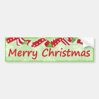 Decorative Merry Christmas Festive Holiday Bumper Sticker