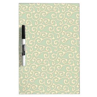 Decorative Mint Scrolls Dry Erase Board
