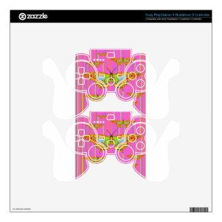 Decorative Modern Butterfly Pink Art Design Skin For PS3 Controller