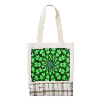 Decorative modern pattern zazzle HEART tote bag