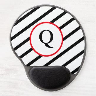 Decorative Monogram Gel Mouse Pad