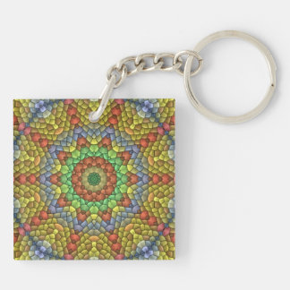 Decorative Mosaic pattern Keychain