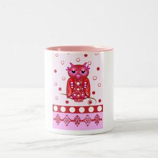 Decorative mug with cartoon Owl