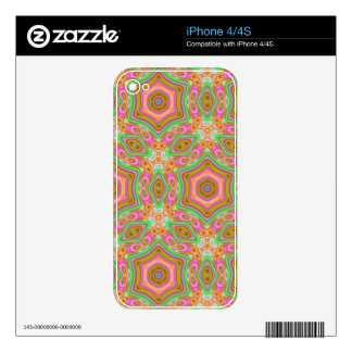 Decorative multicolored pattern iPhone 4 decals