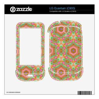 Decorative multicolored pattern skin for LG quantum