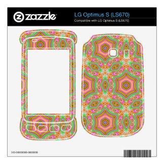 Decorative multicolored pattern skin for the LG optimus s