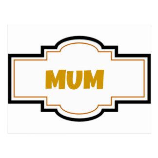 Decorative Mum Postcard