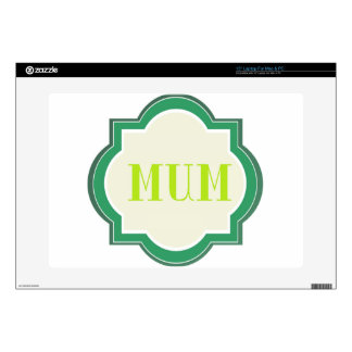 "Decorative Mum Skin For 15"" Laptop"