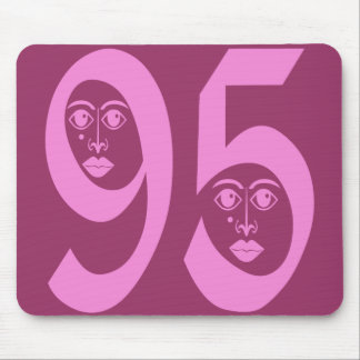 DECORATIVE NUMBER 95 MOUSE PAD