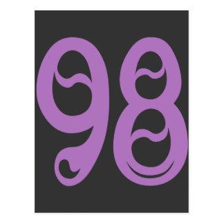 DECORATIVE NUMBER 98 POSTCARD