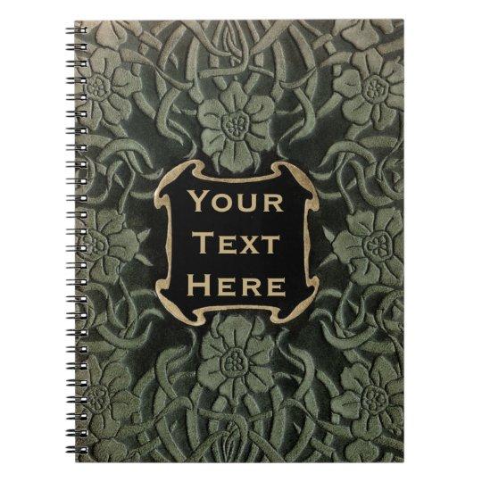 How To Make A Decorative Book Cover : Decorative old book cover retro floral design zazzle