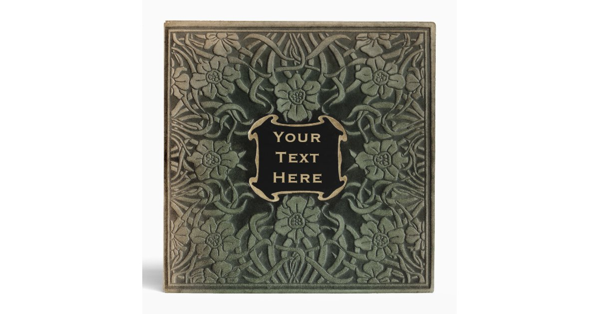 Vintage Book Cover T Shirts : Decorative old book cover retro floral design ring