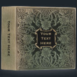 """Decorative old book cover: Retro floral design 3 Ring Binder<br><div class=""""desc"""">This retro binder is decorated with the image of an antique book. The cover of the original manuscript was made from leather with a floral design pressed into it. We carefully recreated the old, vintage look on this modern binder. The years have added stains and character, as well as a...</div>"""