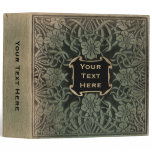 Decorative old book cover: Retro floral design 3 Ring Binder