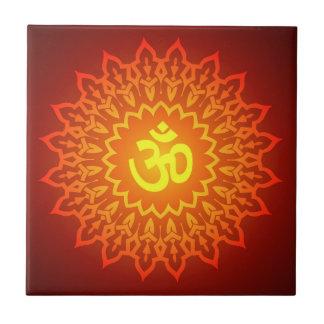 Decorative Om Design Tile