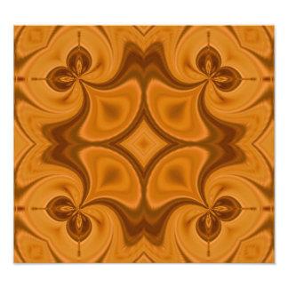 Decorative Orange wood pattern Photo Art