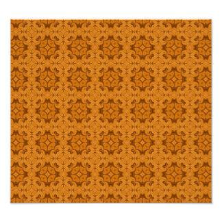 Decorative Orange wood pattern Photographic Print