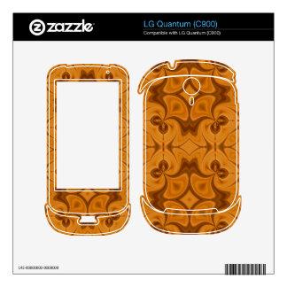 Decorative Orange wood pattern LG Quantum Decal