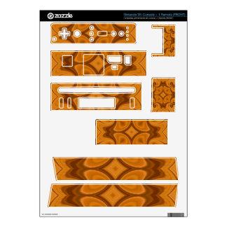 Decorative Orange wood pattern Nintendo Wii Decals