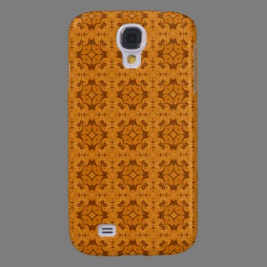 Decorative Orange wood pern Galaxy S4 Case