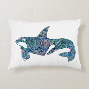 Beach Themed Decorative Orca Decorative Pillow