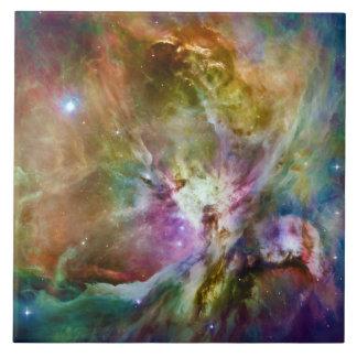Decorative Orion Nebula Galaxy Space Photo Ceramic Tile